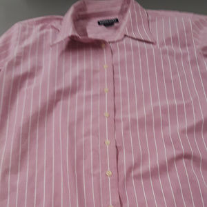 Women's pink and white striped shirt